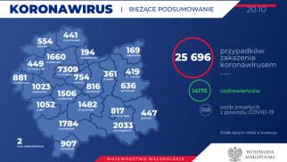 31 nowych przypadków zakażeń koronawirusem w naszym powiecie. Stan na 20 października