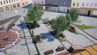 Chrzanów. Betonowy Rynek w rozsypce. Wkrótce ma zmienić się w zieloną wyspę w sercu miasta [ZDJĘCIA]