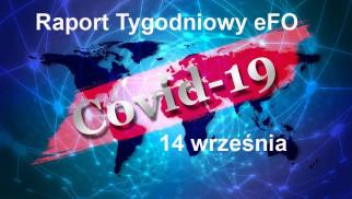 COVID-19 – RAPORT TYGODNIOWY – 14 WRZEŚNIA