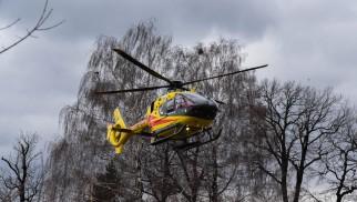 Interwencja LPR w Brzeszczach. Kobieta spadła z drabiny – ZDJĘCIA!
