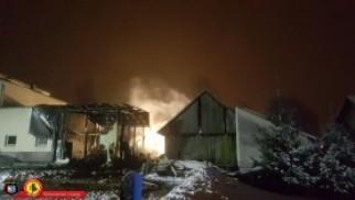 Ogromne straty po pożarze w Bulowicach