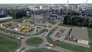 """OŚWIĘCIM. Powstaje """"Port Oświęcim"""". Kolejna stacja paliw, restauracja i market…"""