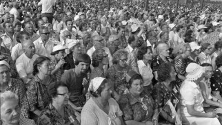 Oświęcim. Wystawa nawiązująca do wizyty Jana Pawła II w parku na Zasolu