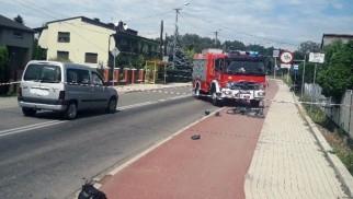 Potrącenie rowerzysty. Droga jest nieprzejezdna – AKTUALIZACJA