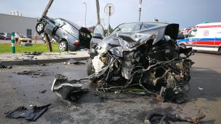Poważny wypadek na Zasolu - FOTO - InfoBrzeszcze.pl