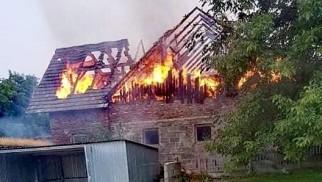 Pożar budynku w Graboszycach – ZDJĘCIA!