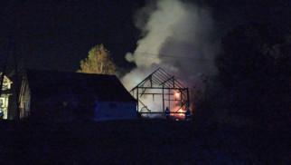Pożar budynku w Piotrowicach – ZDJĘCIA!
