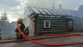Pożar budynku w Polance Wielkiej – ZDJĘCIA!