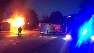 Pożar lodziarni przy ul.Dworcowej - InfoBrzeszcze.pl