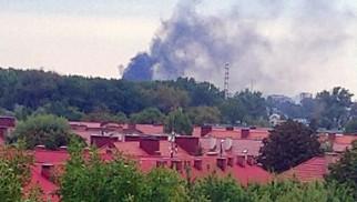 Pożar na terenie Synthosu
