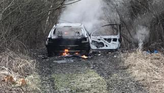 Pożar samochodu osobowego. Trwa akcja gaśnicza – ZDJĘCIA!