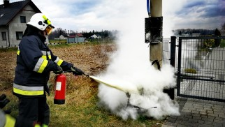 Pożar skrzynki elektrycznej we Włosienicy – ZDJĘCIA!