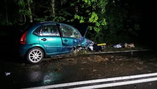 Samochód Osobowy Uderzył w Drzewo - InfoBrzeszcze.pl