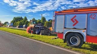 Śmiertelny wypadek na A4 w Chrzanowie. Autostrada zablokowana w stronę Katowic