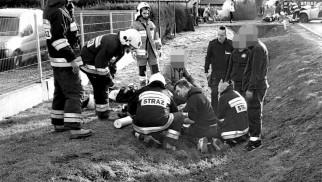 Śmiertelny wypadek w Łękach. Nie udało się uratować życia motocyklisty – ZDJĘCIA!