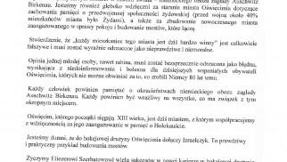 Stanowisko ZarząduZwiązku Gmin Wyznaniowych Żydowskich w Polsce oraz Naczelnego Rabina Polski