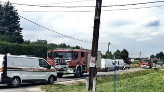 Uszkodzony rurociąg gazowy- strażacy ewakuowali mieszkańców -FILM/FOTO- InfoBrzeszcze.pl