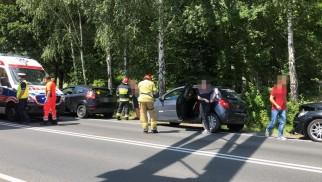 Wypadek na DK44 w Zaborzu. Trwa akcja służb ratowniczych