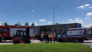 Wypadek przy pracy na terenie marketu budowlanego