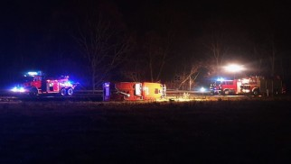 Wypadek wozu strażackiego JRG Oświęcim- strażacy jechali do pożaru w Jawiszowicach -FILM- InfoBrzeszcze.pl