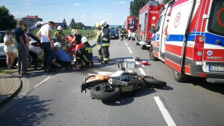 Wypadek z udziałem motocykla w Zatorze – ZDJĘCIA!