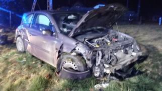 Zderzenie dwóch pojazdów na DW949 w Polance Wielkiej – ZDJĘCIA!