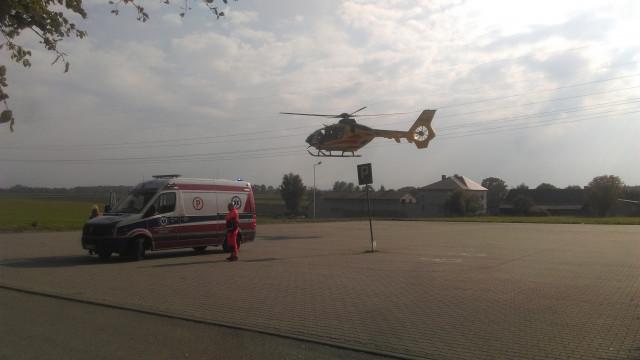12-latek wywrócił się na rowerze, został zabrany śmigłowcem LPR do szpitala w Krakowie ! ZDJĘCIA !