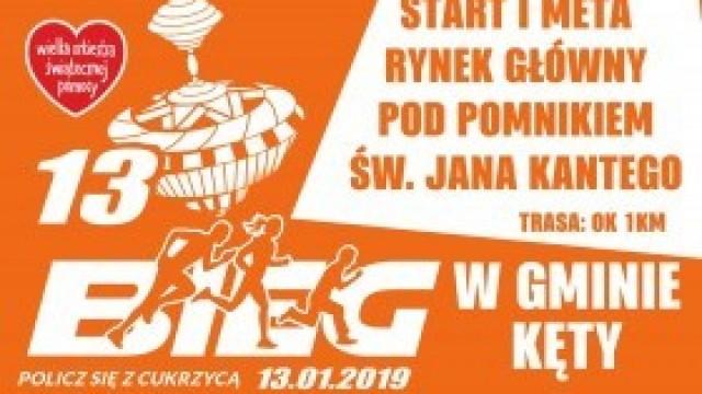 """13. Bieg """"Policz się z cukrzycą"""" w ramach finału WOŚP w Kętach. Zapraszamy!"""