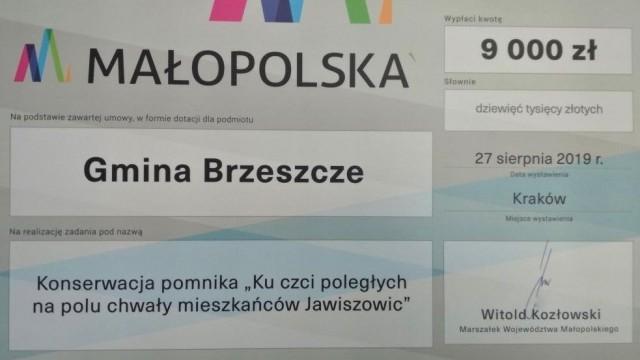 9 tys. złotych dotacji na konserwację pomnika - InfoBrzeszcze.pl