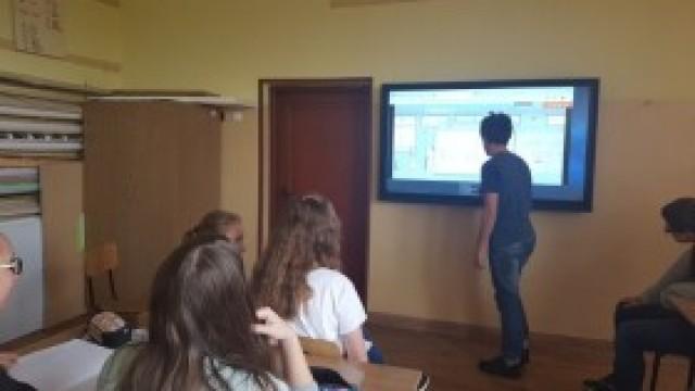 """""""Aktywna tablica"""" w szkole w Nowej Wsi"""