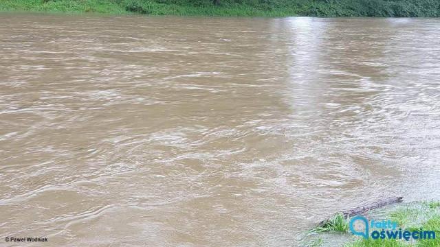 Alarm powodziowy w Oświęcimiu