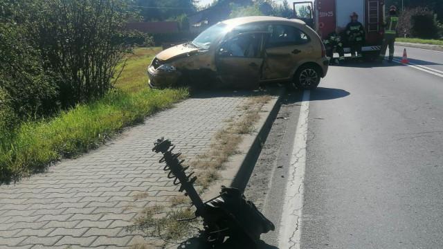 BABICE. Kierowca stracił panowanie nad pojazdem