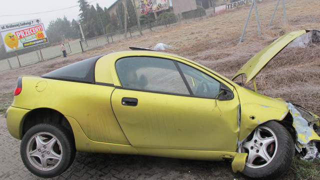 BABICE. Zobacz nagranie wypadku pijanego kierowcy