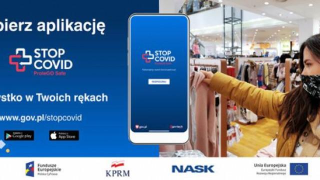 Bezpieczniej z aplikacją STOP COVID