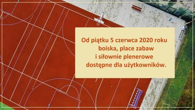 Boiska, place i siłownie otwarte dla użytkowników - InfoBrzeszcze.pl