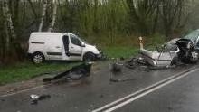 Brzeszcze. Wypadek drogowy śmiertelny.