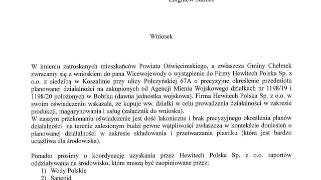 CHEŁMEK – KRAKÓW. PiS i Partia Zielonych razem w sprawie kontrowersyjnej inwestycji w Bobrku