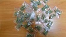 Chełmek. Policjanci przechwycili blisko 300 porcji marihuany i postawili ponad 40 zarzutów za posiadanie i rozprowadzanie narkotyków
