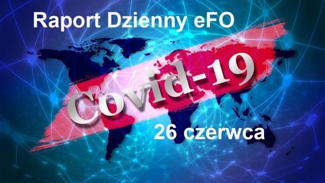 COVID-19 – RAPORT DZIENNY – 26 CZERWCA