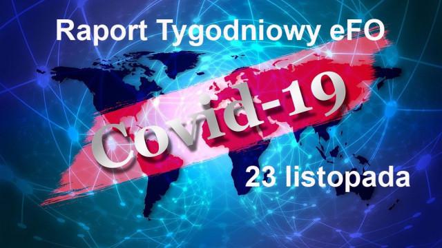 COVID-19 – RAPORT TYGODNIOWY – 23 LISTOPADA