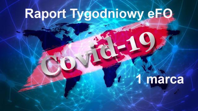 COVID-19 – RAPORT TYGODNIOWY – 1 MARCA