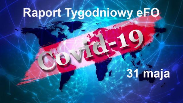 COVID-19 – RAPORT TYGODNIOWY – 31 MAJA