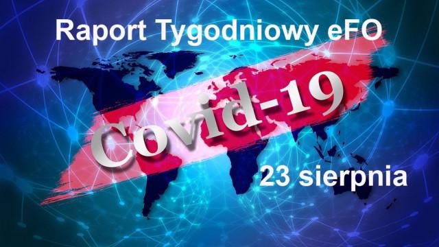 COVID-19 – RAPORT TYGODNIOWY – 23 SIERPNIA