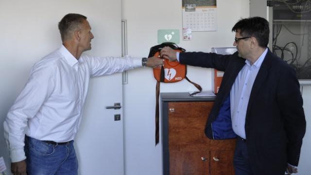 Defibrylator w COT w Brzezince