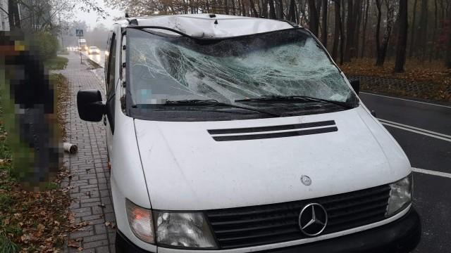 Drzewo przewróciło się na samochód. Jedna osób poszkodowana – ZDJĘCIA!