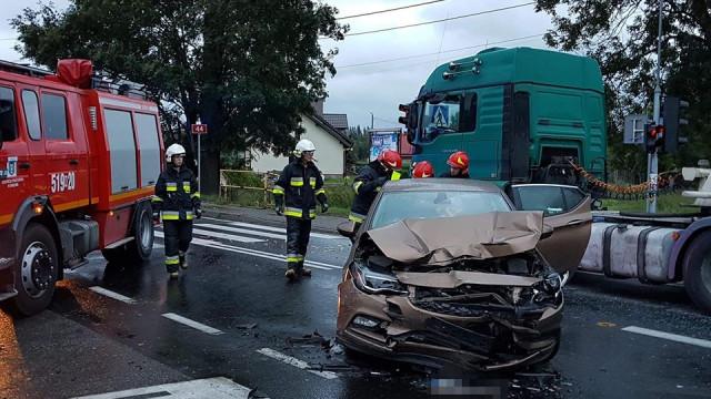 Dwa niebezpieczne zdarzenia drogowe w naszym powiecie.ZDJĘCIA, FILM!