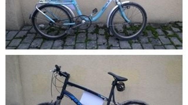 Dwa porzucone rowery  czekają na właścicieli w kęckim komisariacie Policji