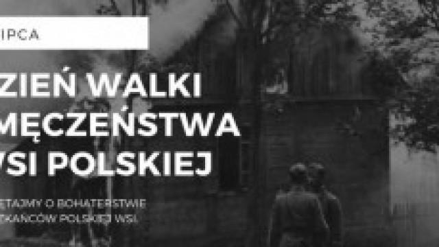 Flagi ku pamięci bohaterów w dniu Walki i Męczeństwa Wsi Polskiej
