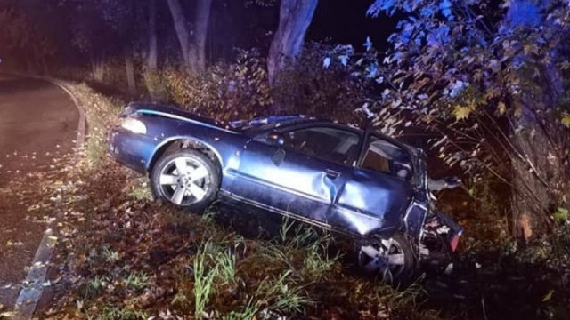 Frydrychowice k. Wadowic. Samochód rozstrzaskał się o drzewo [ZDJĘCIA]
