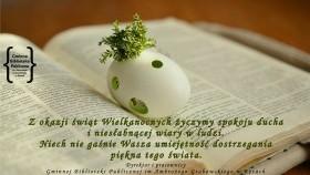 GBP im. A. Grabowskiego w Kętach - życzenia Wielkanocne